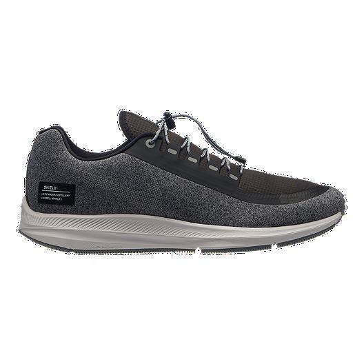 94257a14162e Nike Men s Zoom Winflo 5 Run Shield Running Shoes - Black Silver Grey