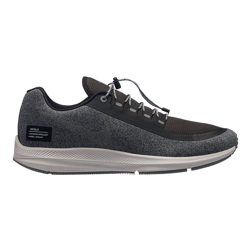 ab50f02a138 Nike Men s Zoom Winflo 5 Run Shield Running Shoes - Black Silver Grey