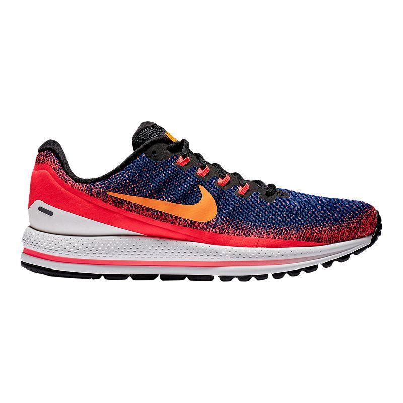 c9f5f1fd8e6b Nike Men s Air Zoom Vomero 13 Running Shoes - Blue Orange Red (191887273141