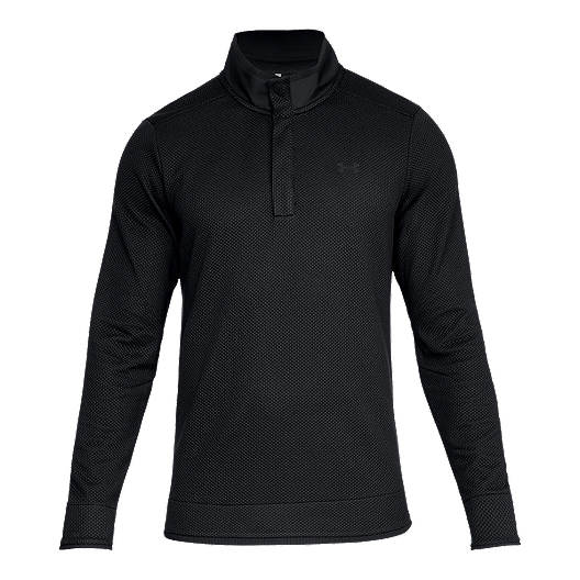 distinctive design aesthetic appearance on feet images of Under Armour Men's Storm SweaterFleece Snap Mock