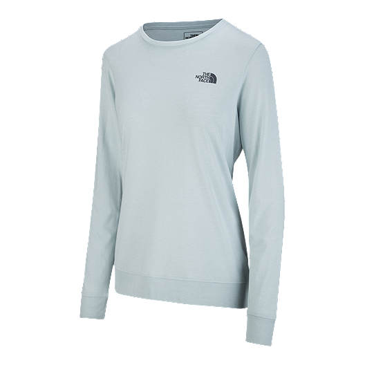 8b9ed8ab2 The North Face Women's Twig Town Long Sleeve T Shirt - Blue Haze