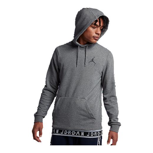 eeed403d528 Nike Men's Jordan Jumpman Air Pullover Hoodie - CARBON HEATHER/BLACK