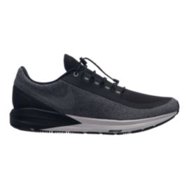 Nike Men's Air Zoom Structure 22 Shield Running Shoes - Black/Silver/Grey