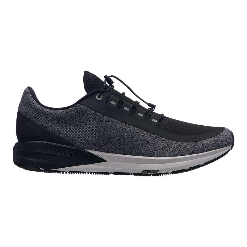 93827a2bbddc Nike Men s Air Zoom Structure 22 Shield Running Shoes - Black Silver Grey