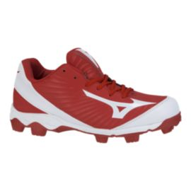 Mizuno Men's 9-Spike Advanced Franchise 9 Low Baseball Cleats - Red