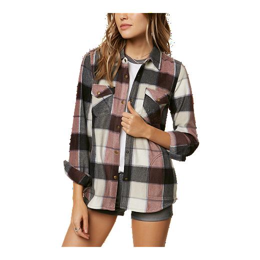 723f50147 O'Neill Women's Zuma Superfleece Button Up Plaid Shirt | Sport Chek