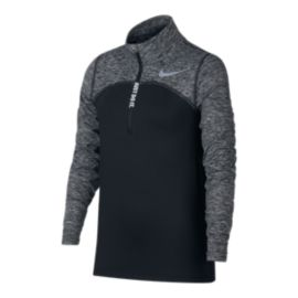 Nike Girls' Element Half Zip Running Shirt