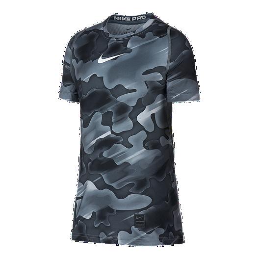 0c23cb0b Nike Pro Boys' Fitted All Over Print T Shirt | Sport Chek