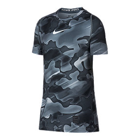 Nike Pro Boys' Fitted All Over Print T Shirt