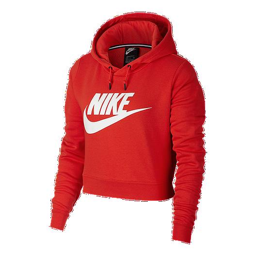 3b6ff056a3eaa Nike Sportswear Women s Rally Cropped Hoodie
