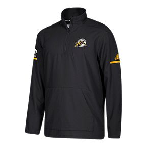 Hamilton Tiger-Cats adidas 1 4 Zip Long Sleeve Top 1901b88a2