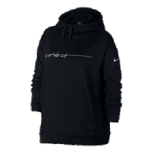 09e140111114 Nike Women s Therma JDI Script Plus Size Pullover Hoodie