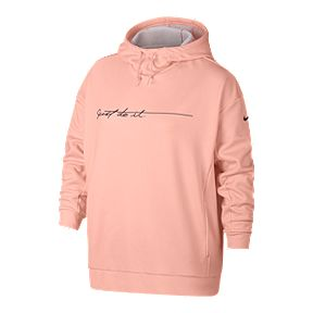 10366810470 Nike Women s Therma JDI Script Plus Size Pullover Hoodie