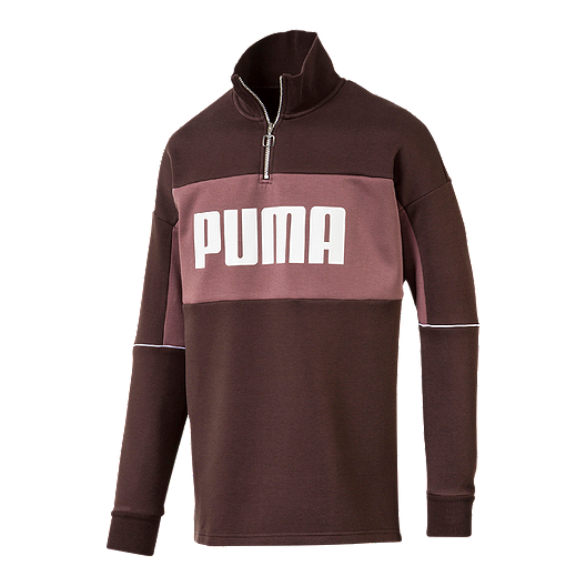 2cd9511d18589 Puma Men's Retro 1/4 Zip Long Sleeve Shirt