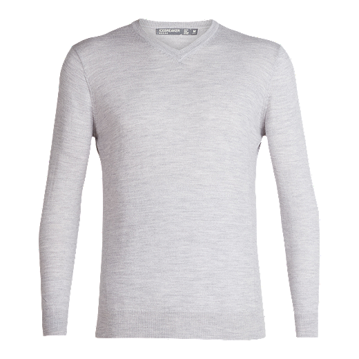 598947b4cbf Icebreaker Men's Shearer V-Neck Sweater - Steel - STEEL HEATHER