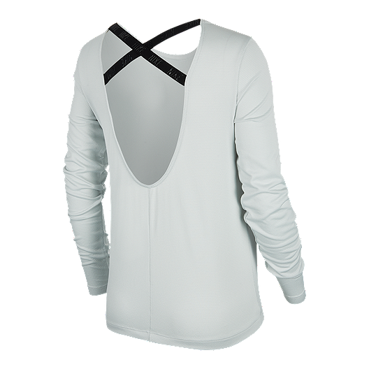 87ccefecc Nike Dry Women s Elastika Long Sleeve Shirt. (0). View Description. Nike  Dry Women s Elastika Long Sleeve Shirt - LIGHT SILVER