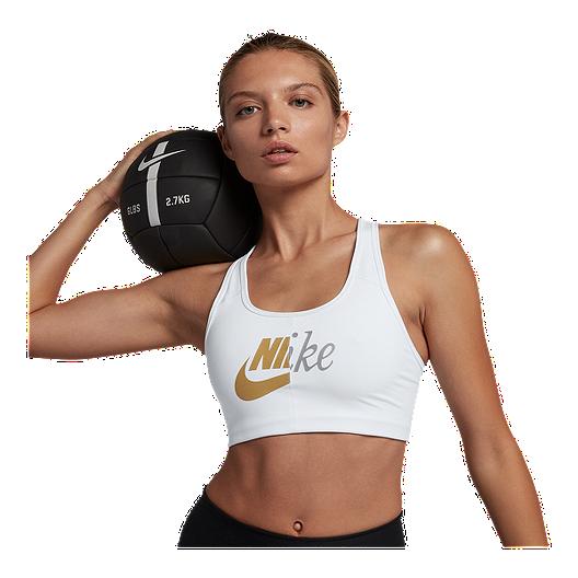 the latest 0b760 bf650 Nike Women s Swoosh Metallic Futura Sports Bra   Sport Chek
