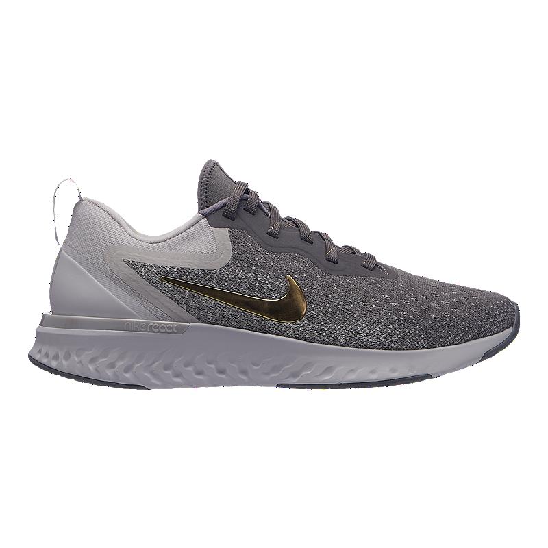 c9ce283d5cc5 Nike Women s Odyssey React Running Shoes - Metallic Gunsmoke