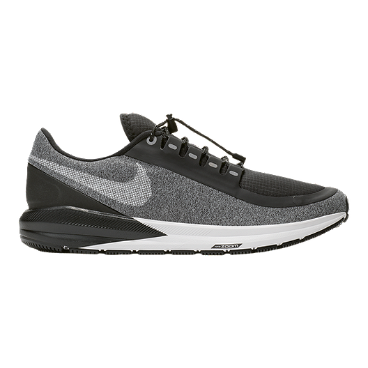 95241ec0399 Nike Women s Air Zoom Structure 22 RN Shield Running Shoes - Black Grey