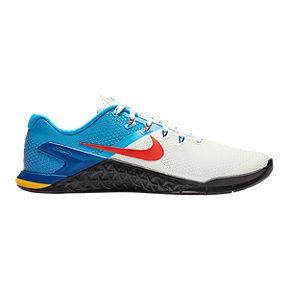 317649e83bd2 Nike Men s Metcon 4 Training Shoes - White Orange Blue