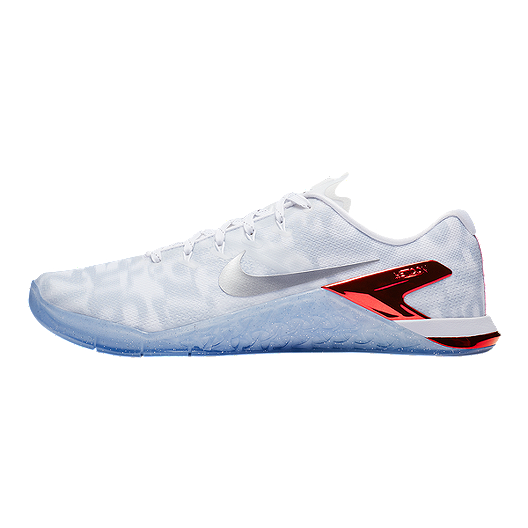 Instantáneamente Enlace Método  Nike Men's Metcon 4 Premium Training Shoes - White/Silver/Red | Sport Chek