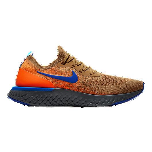 premium selection b0f35 600f4 Nike Men s Epic React Flyknit Running Shoes - Gold Blue Orange   Sport Chek