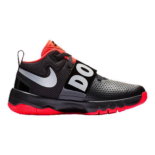 sports shoes 82834 85875 Nike Boys  Team Hustle D JDI Grade School Shoes - Black Reflect Silver