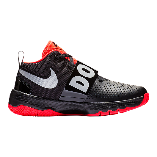 e48691d54a13 Nike Boys  Team Hustle D JDI Grade School Shoes - Black Reflect  Silver Bright Crimson