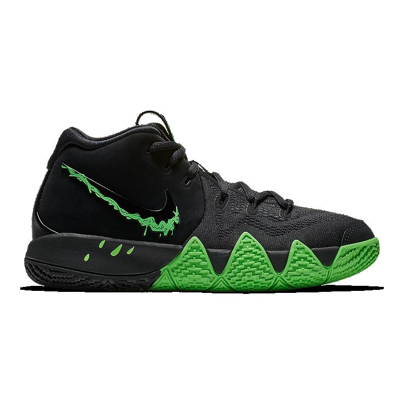 dd8bf94c5cb2 Nike Boy s Kyrie 4 Basketball Shoes - Black Green