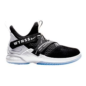 64e5c65e95c8 Nike Kids  Soldier XII Grade School Basketball Shoes - Black White
