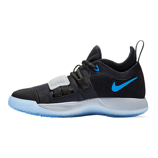 new product ac965 f5bfd Nike Kids' PG 2.5 Grade School Basketball Shoes - Black/Photo Blue