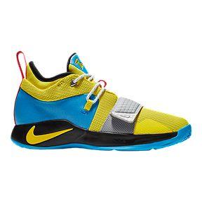 44b097e93a7 Nike Boy s Grade School PG 2.5 Basketball Shoes - Yellow Blue Black