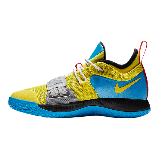 hot sale online 3f118 ed746 Nike Boy's Grade School PG 2.5 Basketball Shoes - Yellow/Blue/Black