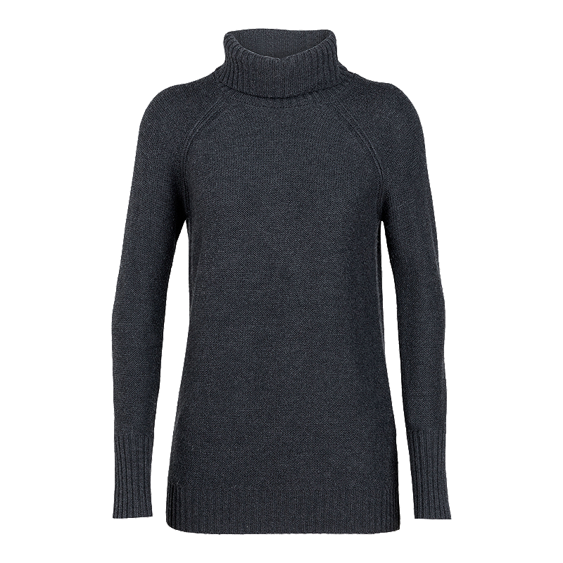 Icebreaker Women's Waypoint Roll Neck Sweater - Charcoal   Sport Chek