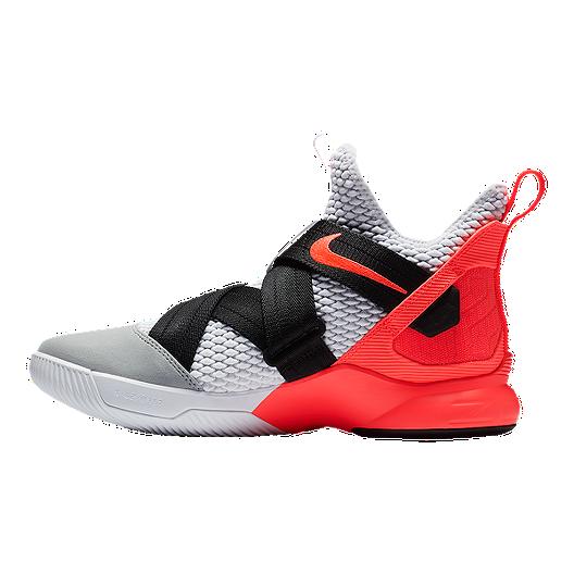 5b75e643c9a Nike Men s LeBron Soldier XII SFG Basketball Shoes - White Crimson ...
