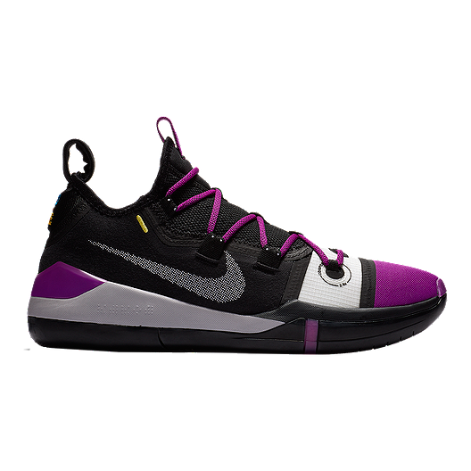 944ffc98a224 Nike Men s Kobe AD Exodus Basketball Shoes - Black Grey Purple ...