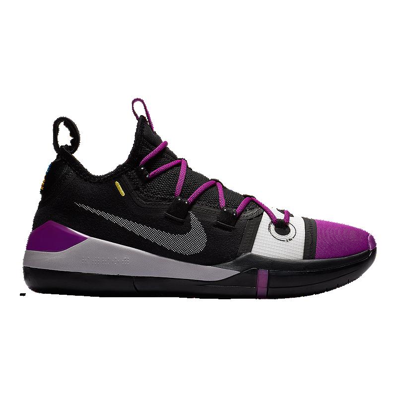 72afad022e9 Nike Men s Kobe AD Exodus Basketball Shoes - Black Grey Purple ...