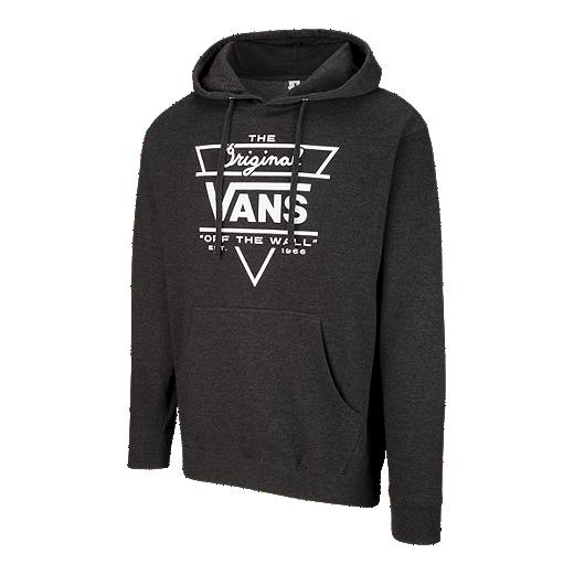 b889395b Vans Men's Original Triangle Pullover Hoodie - Charcoal