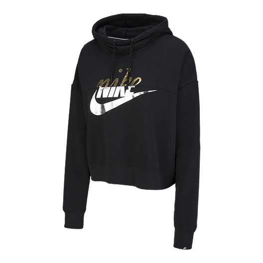 f7dc39356141 Nike Sportswear Women s Metallic Graphic Pullover Hoodie