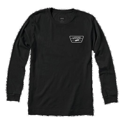 bb942ac4018261 Vans Men s Full Patch Back Long Sleeve T Shirt - Black