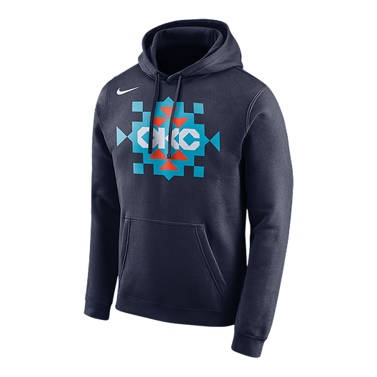 new concept 90688 907bf Oklahoma City Thunder Nike Men's Logo Essential Hoodie ...