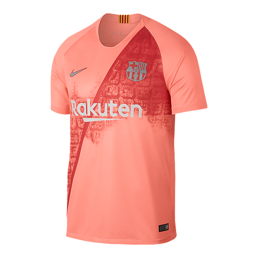 f1a3b9c30 FC Barcelona 2018 19 Nike Men s Breathe Third Stadium Jersey - PINK