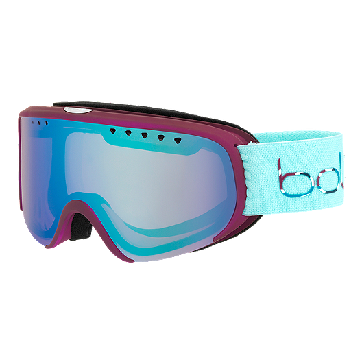 6ded22f5f65b Bolle Scarlett Women s Ski   Snowboard Goggles 2018 19 - Matte Cherry with  Mint Aura Lens