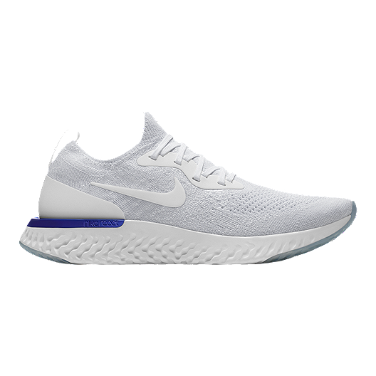 online retailer 7c5bf da09a Nike Men s Epic React Flyknit Running Shoes - White Blue   Sport Chek