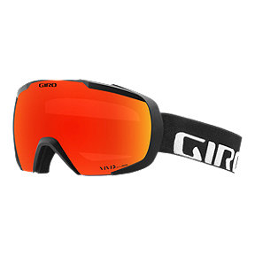 Giro Onset Ski & Snowboard Goggles 2018/19 - Black Wordmark with Vivid Ember Lens