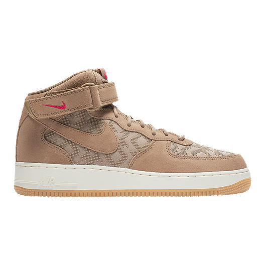 714e207e43ae Nike Men s N7 Air Force 1 Mid  07 Premium Shoes - Canteen University  Red Light Cream