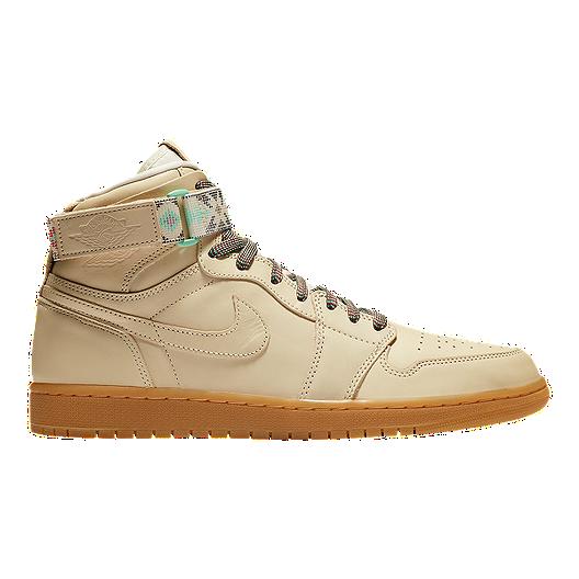 ea4205b4ecfad Nike Men's N7 Jordan Retro 1 Hi Strap Basketball Shoes - Cream | Sport Chek