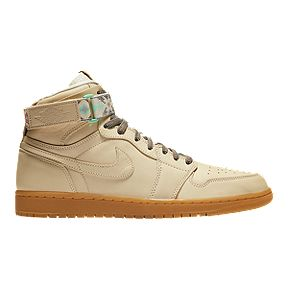 3b323661dd2 Nike Men s N7 Jordan Retro 1 Hi Strap Basketball Shoes - Cream