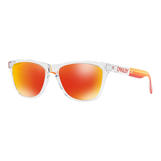 e574249d23 Oakley Frogskin Grip Sunglasses - Polished Clear with Prizm Ruby Lenses