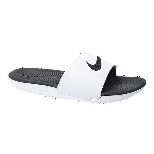 d633f286c Nike Men's Kawa Slide Sandals - White/Black | Sport Chek